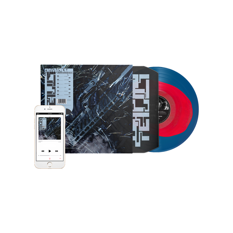Alpha Wolf - 'Fault' Blue with Red Blob Vinyl