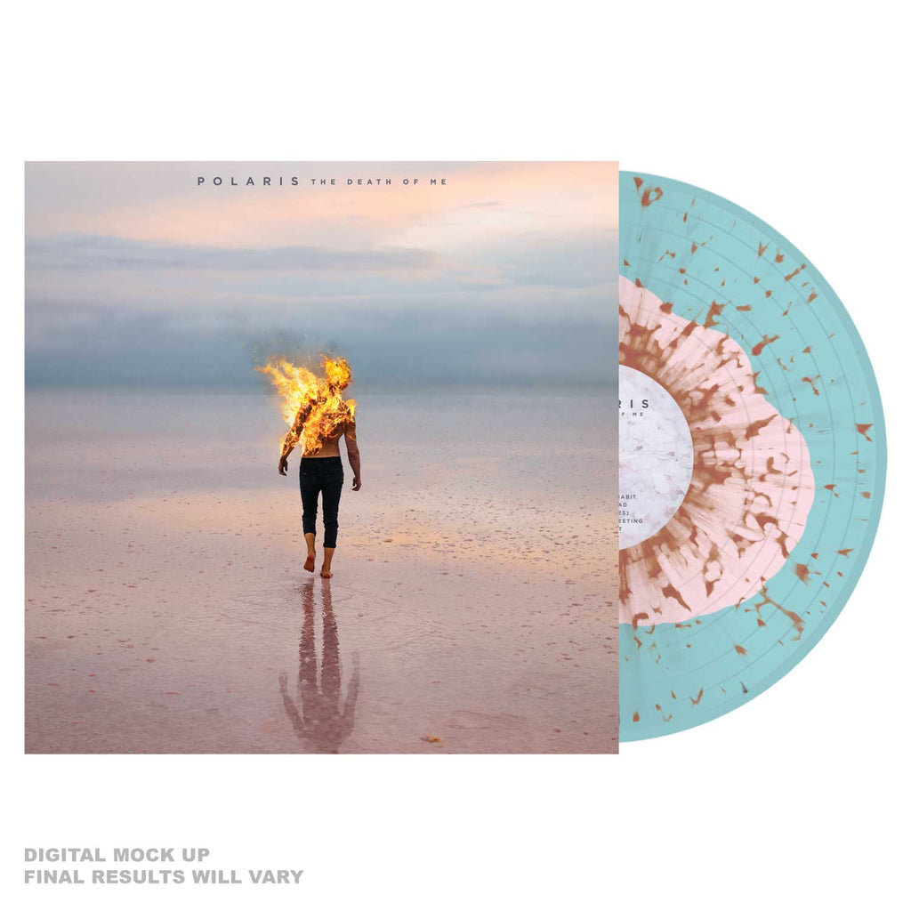Polaris - 'The Death Of Me' Baby Pink in Electric Blue w/ Orange Splatter Vinyl
