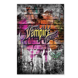 Buffy the Vampire Slayer Graffiti Poster