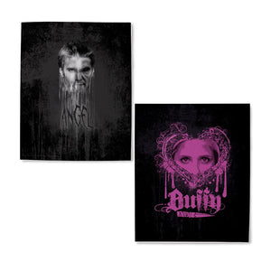 Buffy the Vampire Slayer Angel  and Buffy Fleece Blanket
