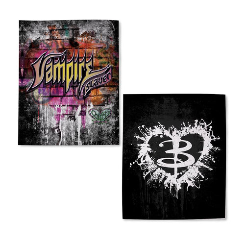 Buffy the Vampire Slayer Graffiti Heart Blanket