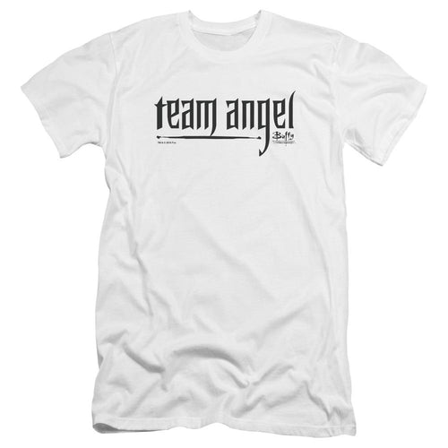Buffy the Vampire Team Angel White T-Shirt