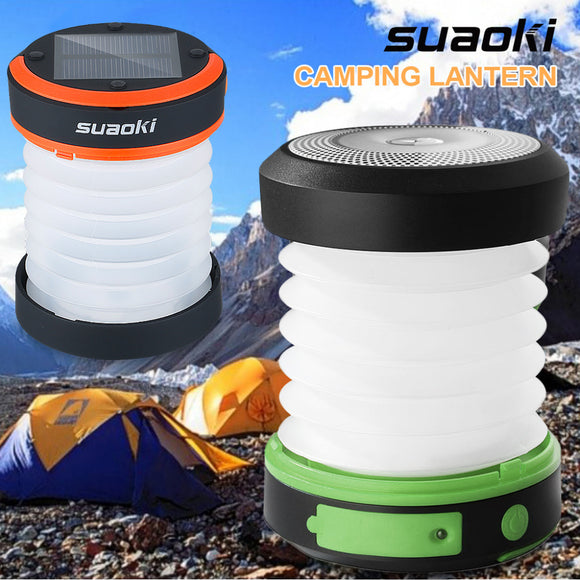 Camping LED Lantern USB&Solar Rechargeable Collapsible