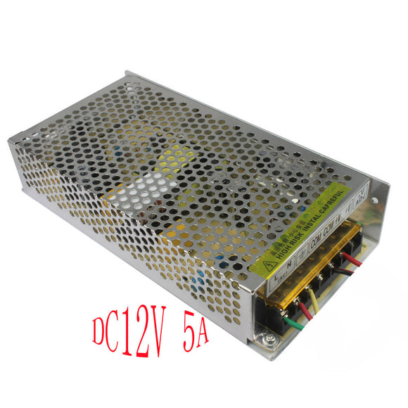 Centralized power supply DC 12V 5A 60W Regulated Switching Power Protection
