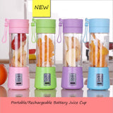 2017 New USB Juicer Fashion And Portable Juicer Cup Rechargeable Battery