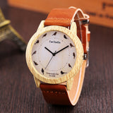 Luxury Fashion Leather Band wood watch