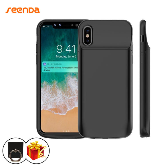 Portable Charging Case For iPhone X with a gift