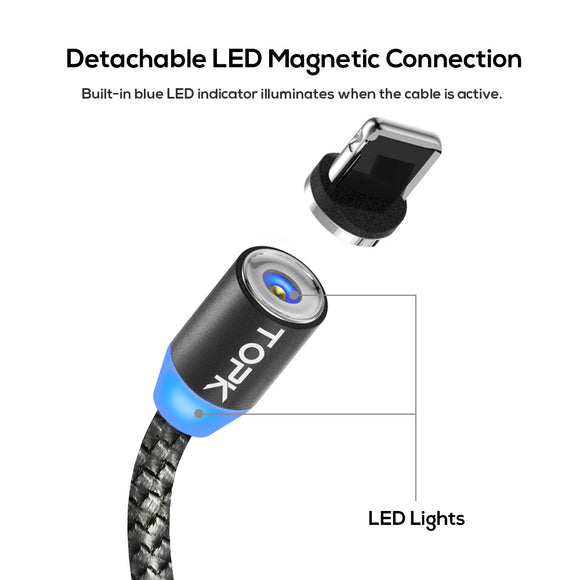 LED Magnetic USB Cable charger