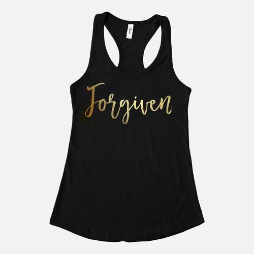 Forgiven Gold Foil Tanks Top