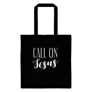 Call on Jesus Tote Bag