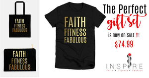 Gift Set - Gold Foil Faith Fitness Fabulous