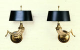 Ram's Horn Sconce Direct Wall Mount