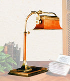 Edwardian Table Lamp with Adjustable Shade