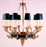 Large Empire Chandelier with Up-Light