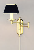 Adjustable Swing Arm Transitional Wall Sconce with Short Backplate