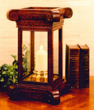 Carved Square Column Hurricane