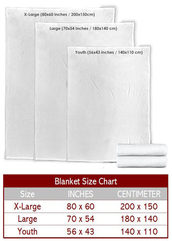 Fleece Blanket Size Chart