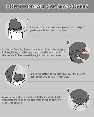 Car Seat Covers Installation Instructions