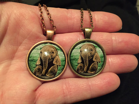 Baby Elephant Bronze and Copper