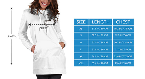 hoodies for women size chart