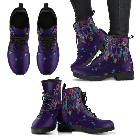 Dream Catcher with Stars Women's Leather Boots