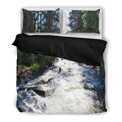 Relaxing Rapids Mountain Stream Nature Lover Bedding Duvet Cover Set