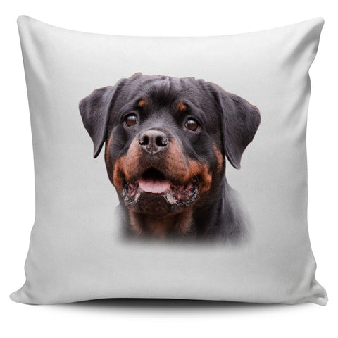 We love this Rottweiler Lovers Pillow Cover with White Background