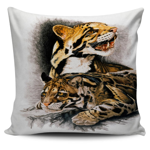 Clouded Leopard Pillow Cover