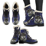 Faux Fir Wolf Boot