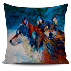 Marion Rose Wolf Pillow Cover Collection