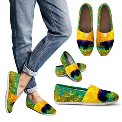 Spring Bear Women's Casual Shoes - Ladies Casual Slip On Shoes - Yellow and Green Painted Shoes