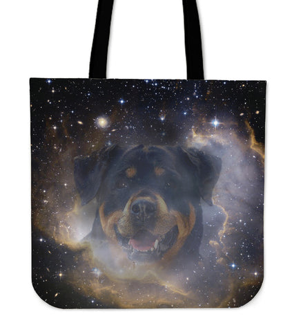 Rottweiler Lovers Canvas Tote Bag with Black Universe Background!