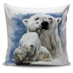 Bear Pillow Cover Collection - Choose between Polar Bear, Grizzly Bear and Black Bear Images.