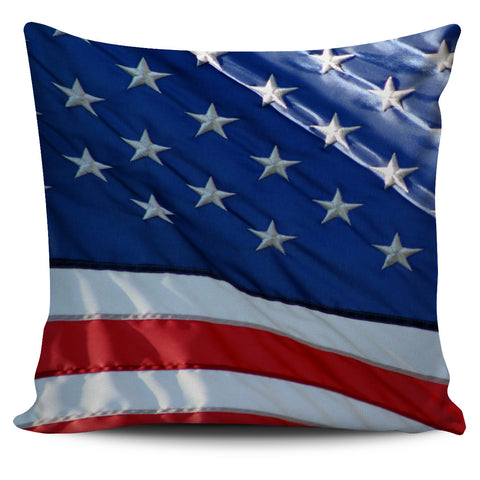 Patriotic Stars & Stripes Pillow Cover