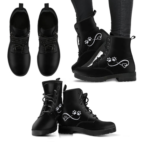 Paw prints infinity Women's boots