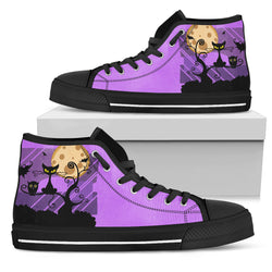 Women's Cat and Owl Silhouette High Top Shoe
