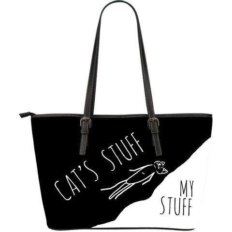Cat's Stuff | My Stuff 2 - Large Leather Tote - Black