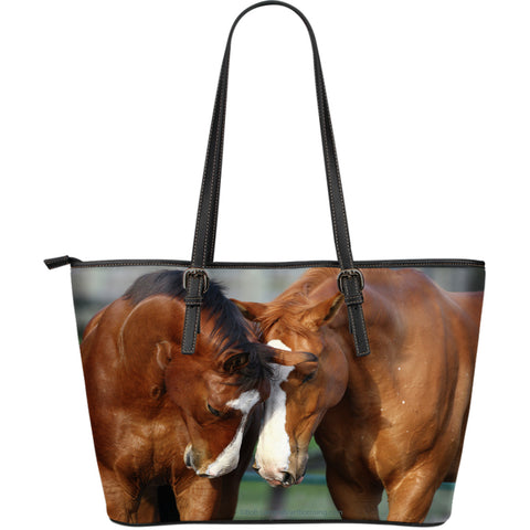 Large Leather Horse Zipper Tote Collection - Exclusively Licensed Artwork - Choice of 4 Large Tote Bags