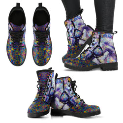 Women's Abstract Horse Handcrafted Leather Trendy Boots