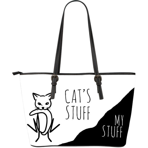 Cat's Stuff | My Stuff 2 - Large Leather Tote - White