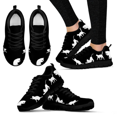 Black Cats Women's Sneakers