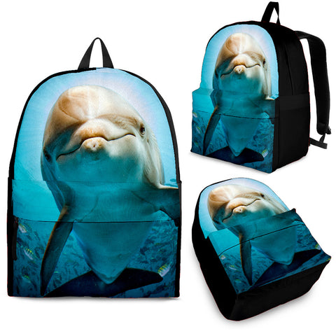 Curious Dolphin Backpack - Blue and Grey - Adult, Youth and Child Sizes