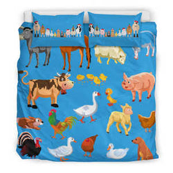 Cute Farm Animal Bedding set