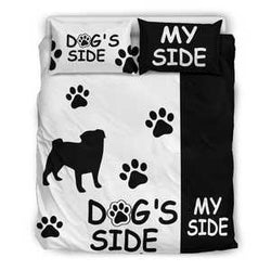 Pug Dog's Side Bedding Set