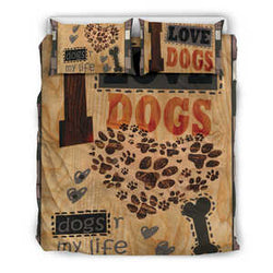 I Love Dogs Bedding Set