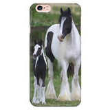 Gypsy Vanner with Baby iPhone Case