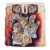 12 Wildcats Bedding Set - White, Red, Black - Exclusive Artwork - Twin, Queen, King