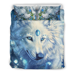 Magical Blue Wolf Bedding Set