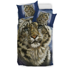 "On Sale! Snow Leopard ""Jewel"" Bedding Set"