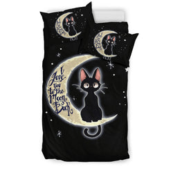 I Love You To The Moon And Back Cat Bedding Set